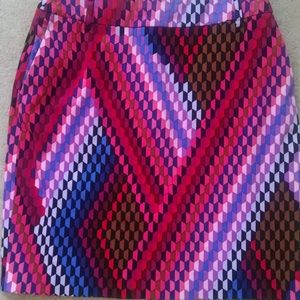 Psychedelic Colored Skirt